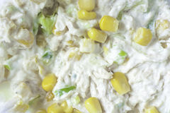 Sweetcorn and Chicken Mayo stock images