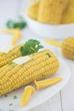 Sweetcorn on the cob Stock Photos