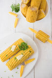 Sweetcorn on the cob Royalty Free Stock Photo