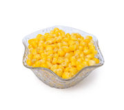 Sweetcorn in crystal bowl Royalty Free Stock Photos