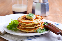 Sweetcorn pancakes Royalty Free Stock Photo