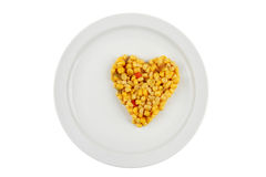 Sweetcorn on plate Stock Photography