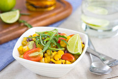 Sweetcorn and rocket salad Stock Image