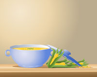 Sweetcorn soup Royalty Free Stock Photography