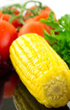 Sweetcorn with vegetables Stock Photos