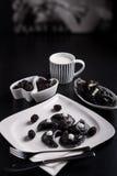 Sweeten pierogi with blackberries Royalty Free Stock Image