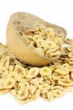 Sweetened banana chips royalty free stock photos
