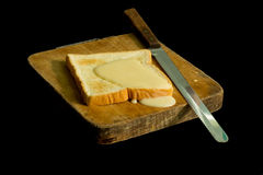 Sweetened condensed milk and breads Royalty Free Stock Photography
