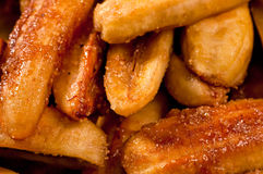 Sweetened fried banana fritters (Saba) Stock Photography