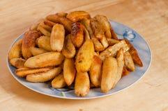 Sweetened fried banana fritters (Saba) Royalty Free Stock Image
