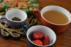 Sweetened Fruit Vinegar Drinking Shrub Ingredients Royalty Free Stock Photography