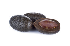 Sweetened pickle Chinese white olive or Chebulic Myrobalan on wh Stock Photography