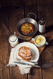 Sweetened potato pancakes. A fresh and tasty sweetened potato pancakes Stock Photography