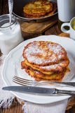 Sweetened potato pancakes. A tasty sweetened potato pancakes Stock Photo