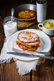 Sweetened potato pancakes. A tasty sweetened potato pancakes Stock Images