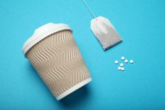 Sweetener pills, dispenser. Aspartame, sucralose, stevia rebaudiana royalty free stock photos