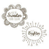 Sweeter and brighter drawing Stock Photo