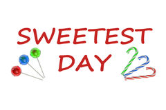 Sweetest Day concept. Sweetest Day isolated on white background Stock Photo