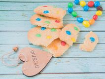The sweetest homemmade cookies. The sweetest homemade cookies for tea and coffee royalty free stock photo
