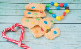 The sweetest homemmade cookies. The sweetest homemade cookies for tea and coffee stock photo