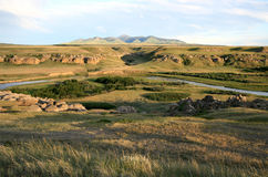 Sweetgrass Hills and Davis Coulee Stock Image