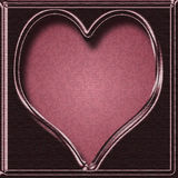 Sweetheart. Pink and purple satin frame in heart shape with mosaic center - Icon, Button or Frame Stock Images