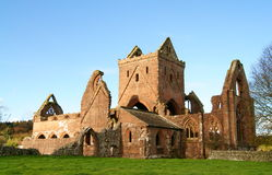 Sweetheart Abbey. The old ruins of Sweetheart Abbey - an old Cistercian monastery - located in the village of New Abbey, Dumfries and Galloway, Scotland Stock Photos