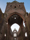 Sweetheart Abbey, Scotland. The ruins of Sweetheart Abbey , also known as Abbey of Dulce Cor, in the Galloway region in Scotland Royalty Free Stock Photography
