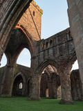 Sweetheart Abbey, Scotland. The ruins of Sweetheart Abbey , also known as Abbey of Dulce Cor, in the Galloway region in Scotland Royalty Free Stock Photo