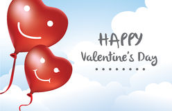 Sweetheart Balloon in sky Stock Photos