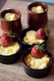 Sweetheart cottage cheese casserole Stock Photography