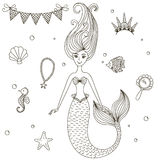 Sweetheart mermaid. Royalty Free Stock Photography