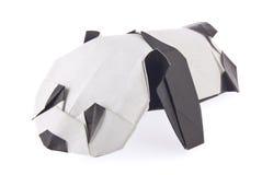 Sweetheart panda of origami. On white background Stock Photos
