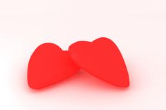 Sweethearts. 3D render of two sweethearts Royalty Free Stock Images