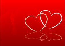 Sweethearts. Abstract valentines background vector illustration Royalty Free Stock Images