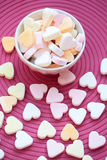 Sweethearts in bowl Stock Images