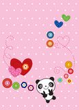 Sweetie panda. A sweetie panda greeting card Stock Image