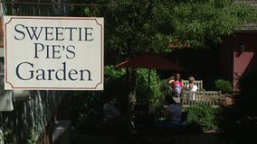 Sweetie Pie's Garden (2 of 2). A view or scene from around town stock footage