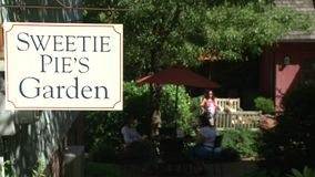 Sweetie Pie's Garden (1 of 2). A view or scene from around town stock video footage