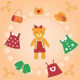 The Sweetie Teddy bear. The Cloth for teddy bear Stock Images