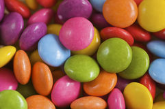 Sweeties. Background image of brightly coloured sweets Stock Images