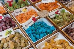 Sweeties in market stock photo