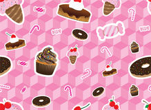 Sweeties Seamless Pattern. Illustration of sweetie seamless pattern. Contain clipping mask. EPS10 Royalty Free Stock Image