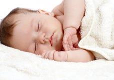 Sweetly sleeping baby Royalty Free Stock Image