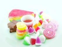 Sweetmeat στο υπόβαθρο μεντών Στοκ Φωτογραφίες