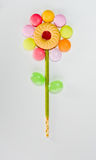 Sweetmeat and Candy flower. Sweetmeat and Candy orderly as flower Royalty Free Stock Photo
