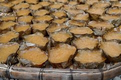 Sweetmeat steamed in a basket Stock Images