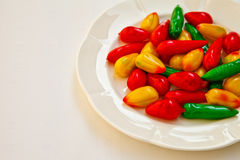 Sweetmeats eaten. The prefix of making some nouns into the sweetmeats eaten in Thailand Stock Images