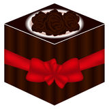 The sweetness of a gift. The sweetness of a gift on a white background Royalty Free Stock Photo