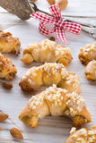 Sweetness Mini almond croissant Royalty Free Stock Photos
